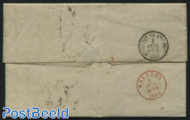 Letter from Liverpool to Belgium