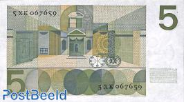 5 Gulden 1966 series XA-XM