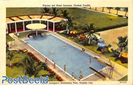 Postcard 9c, Swimming pool
