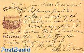 postcard from Rheineck (see mark) to Zofingen