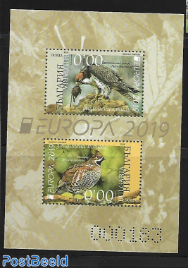 Europa birds, s/s, special print. Not valid for Postage.