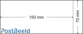 500 bustine glassine 70x150mm