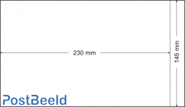 500 bustine glassine 145x230mm