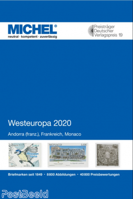 Michel catalogue E3, France/Monaco/Andorra Fr., 2020 edition