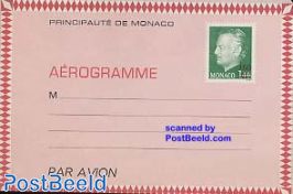 Aerogramme 1.60@1.40 overprint