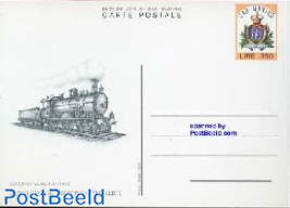 Postcard 350L, Railway philatelists