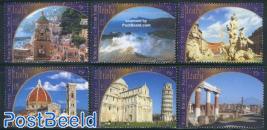 World heritage 6v, Italy