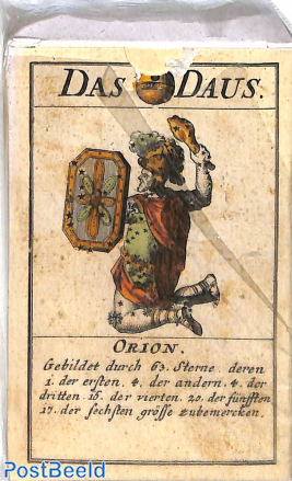 Astronomical playing cards, Germany (1719), Replica card game