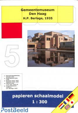Bouwplaat Gemeentemuseum Den Haag 1:300