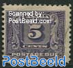 5c, Postage due, Stamp out of set