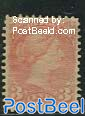 3c, Rosared, perf. 12, unused without gum, short perf. on bottom