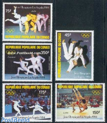Olympic games Los Angeles 5v