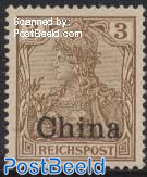 3Pf, German Post, Stamp out of set