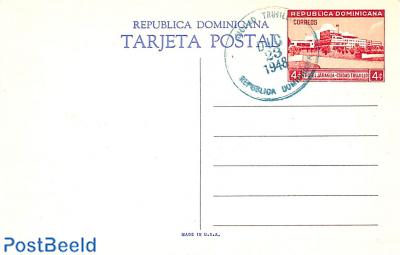 Illustrated Postcard 5c, unused with postmark
