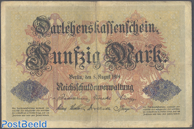 50 Mark 1914 6 Digits