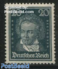 20pf, v. Beethoven, Stamp out of set