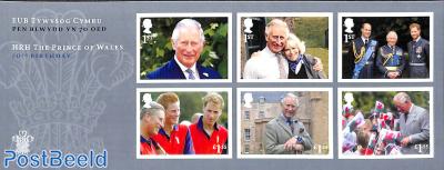 Prince Charles 70th birthday 6v m/s s-a