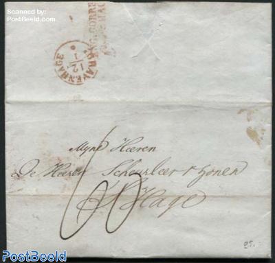 Letter from London to s-Gravenhage (Postmark: Eng. Corresp. Over s-Gravenh.)