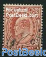 1p, Copperred, Stamp out of set