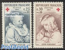 Red Cross 2v, Renoir paintings