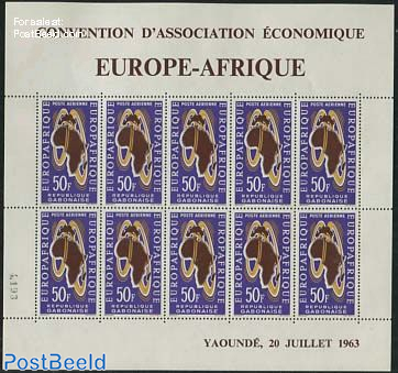Europafrique 1v, minisheet