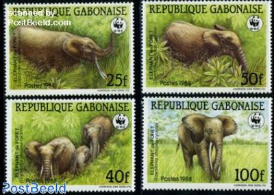 WWF/Elephants 4v