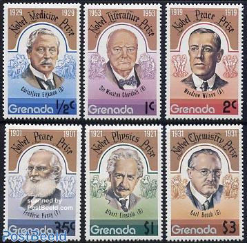 Nobel prize winners 6v