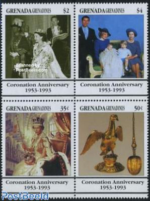 Elizabeth II 40 years coronation 4v [+]