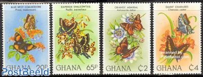 Flowers & butterflies 4v