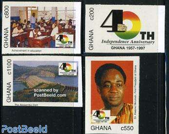 40 Years independence 4v imperforated