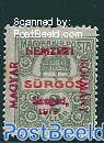Szegedin, 2f, stamp out of set