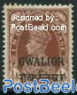 Gwalior, 1/2A, Stamp out of set