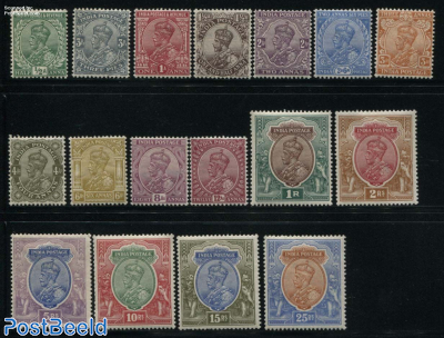 Definitives George V 17v