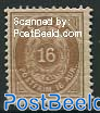 16A Brown, perf. 12.75, Stamp out of set