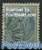 20A Blue, perf. 14:13.5, Stamp out of set
