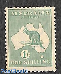 1Sh, WM A-thin crown, Stamp out of set