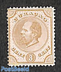 3c, Perf. 14, large holes, Stamp out of set