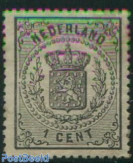 1c, Black, Stamp out of set