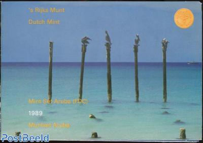 BU Yearset Coins Aruba 1989
