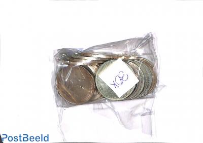 30 Zilveren 50 gulden munten (1982-1998)