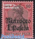 1pta, German Post, Stamp out of set