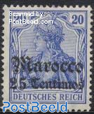 25c, German Post, Stamp out of set