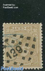 Zeist (129) on NVPH 27K (with pencil lines)