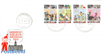 Kinderpostzegelactie Amsterdam, Cover with special cancellation set
