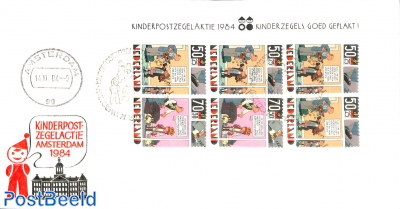 Kinderpostzegelactie Amsterdam, Cover with special cancellation s/s