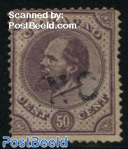 50c, Perf. 14, large holes, Stamp out of set