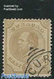 3c canc. CURacao, perf. 14 large holes