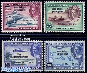 Airmail definitives, overprints 4v