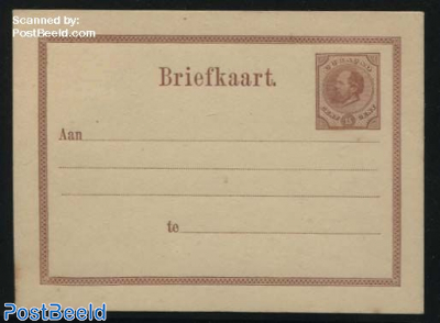 Postcard 15c redbrown