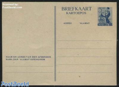 Postcard 5c blue